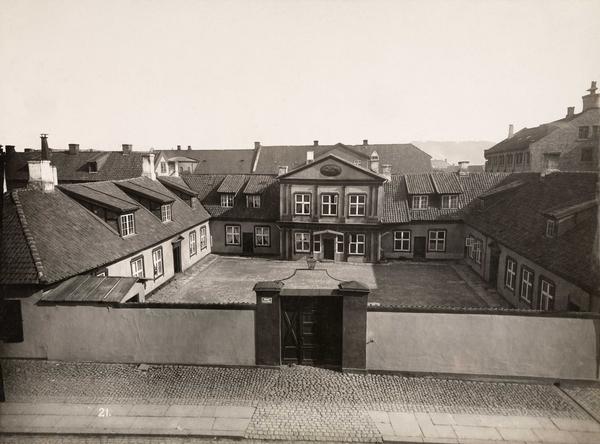 Foto av Mangelsgården, Prinds Christian Augusts Minde 1890. Foto: O.M Væring/Oslo Museum