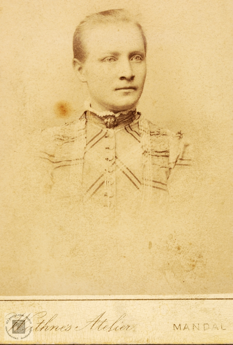 Portrett av Anna Åsan. Bjelland.