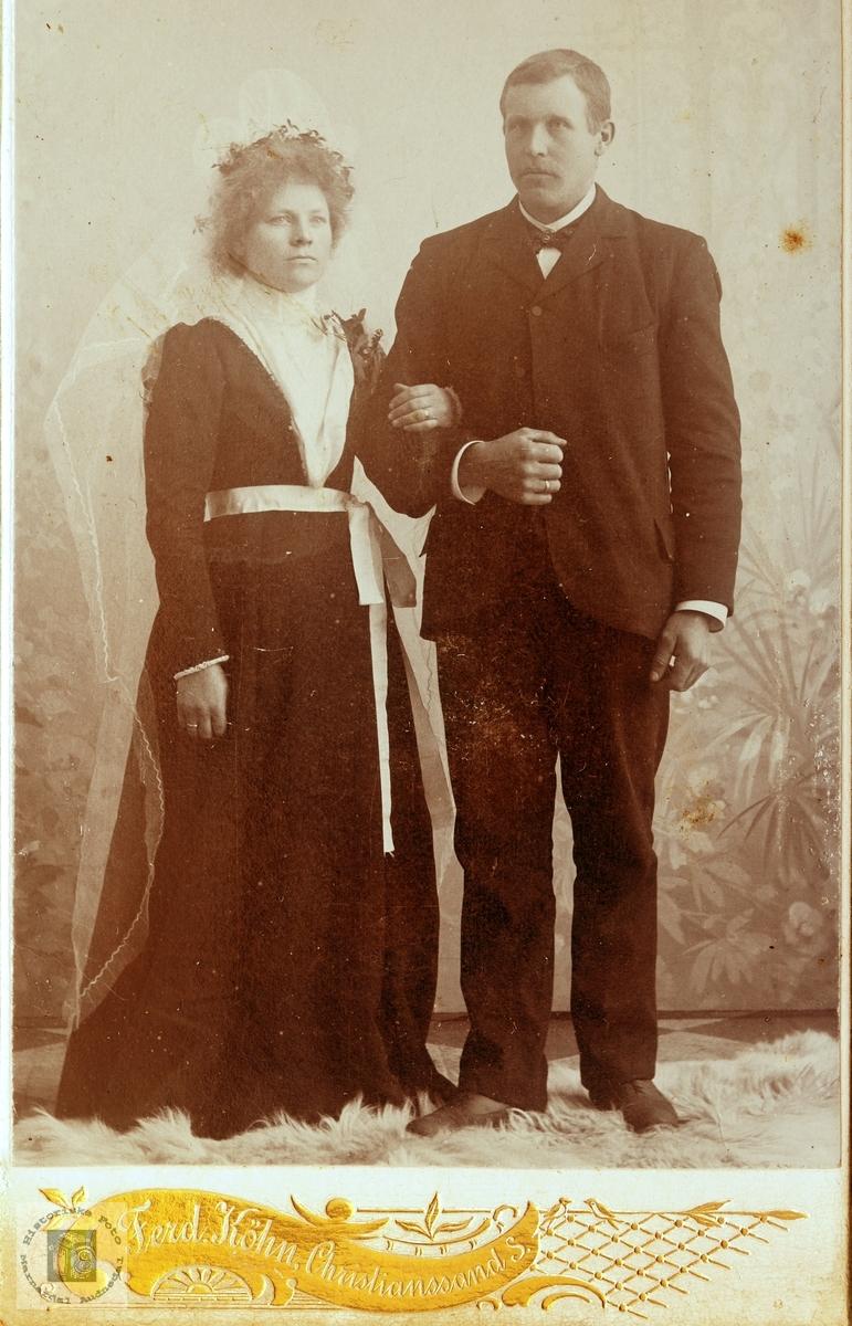 Brudeparet Ingrid Ubostad og Ola Røysland.