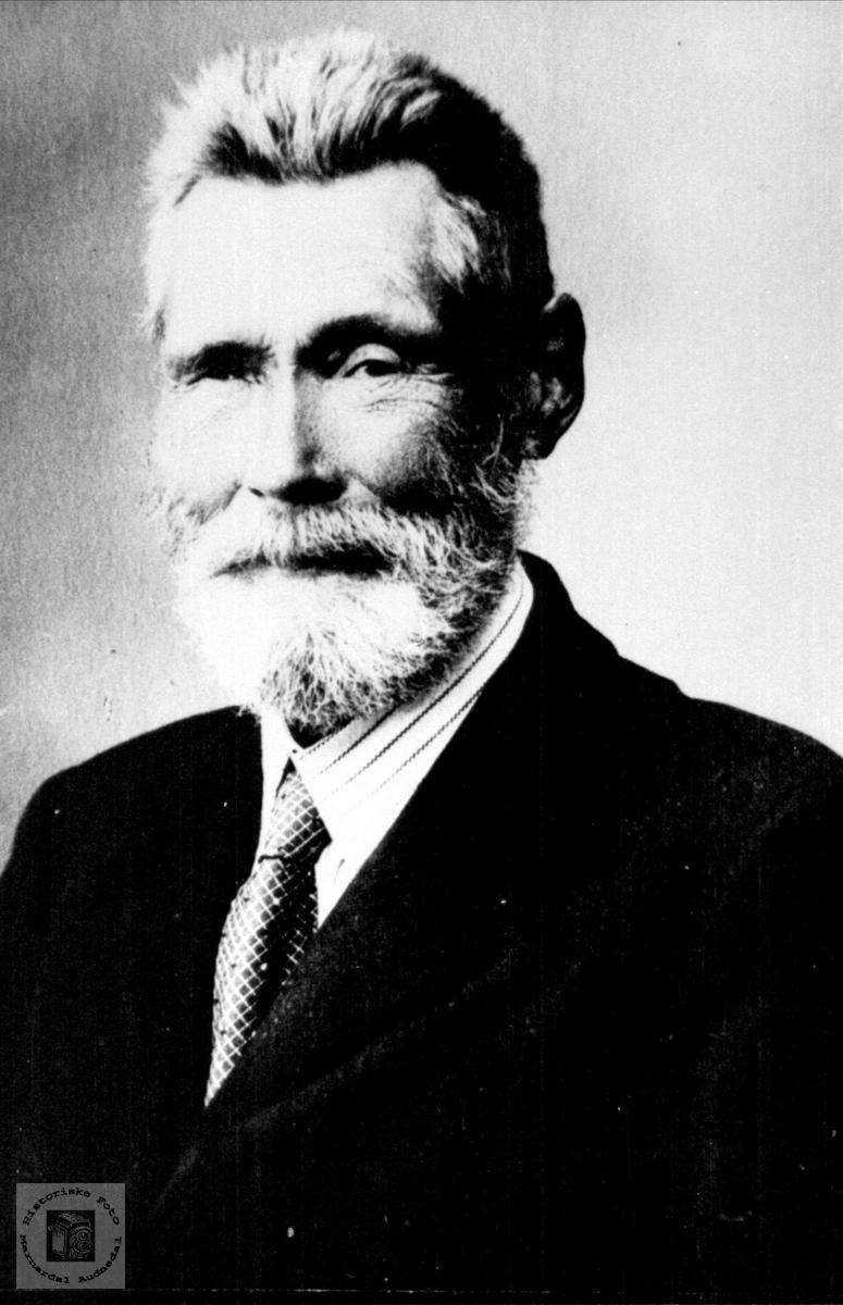 Portrett av Gunder Sørenson Tisland, Laudal.
