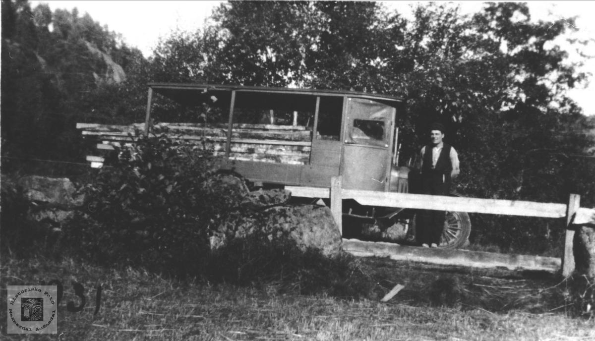 Lastebil eigar Arne Nåstad, Øyslebø.