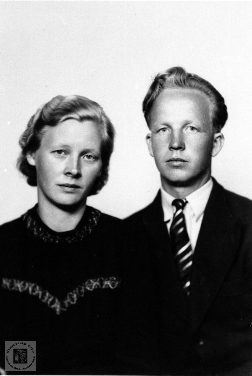 Gunhild Fiddan og Karl Kolstad
