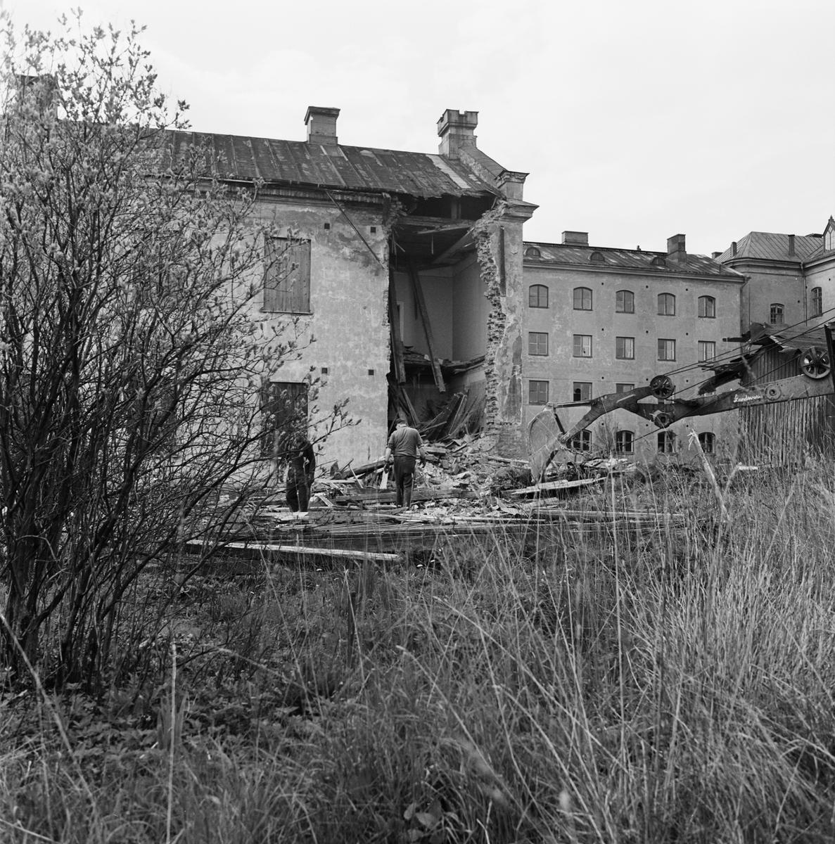 Övrigt: Fotodatum:23/5 1969 Byggnader och Kranar Bostadsområdet Göta Lejon ext o int