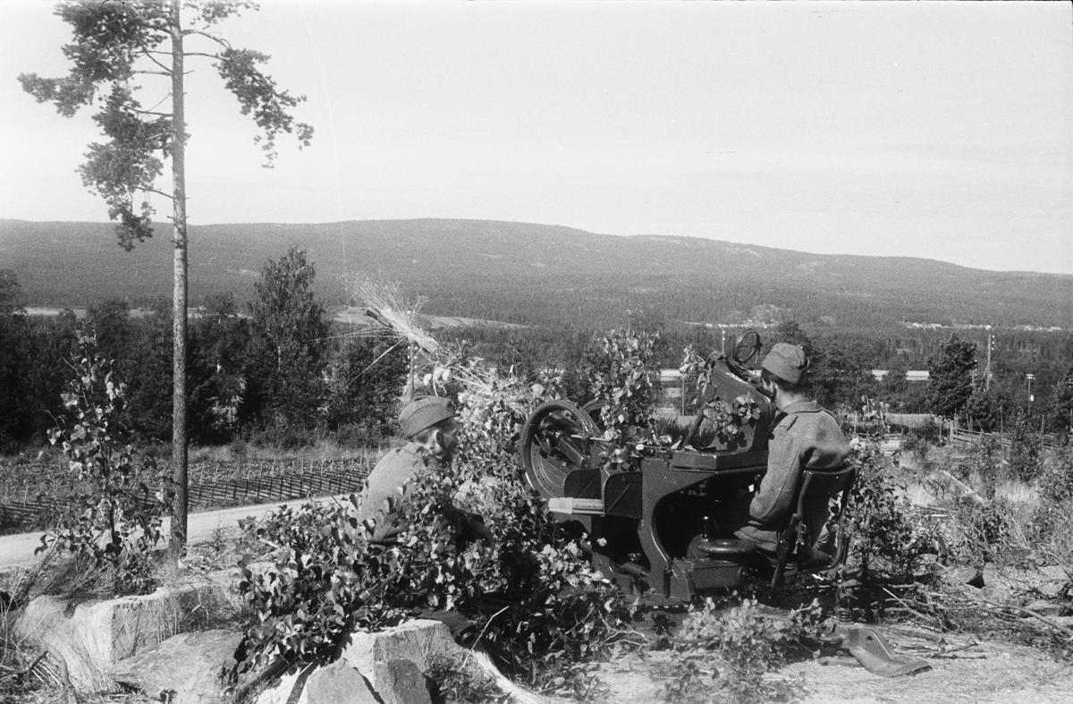 Militærøvelse. Tysk 20 mm luftvernkanon type FLAK 38.
