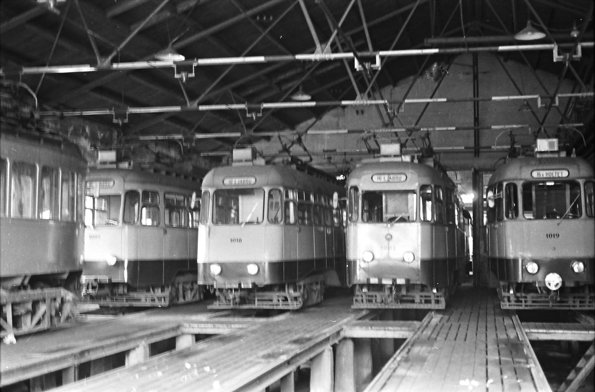 Ekebergbanen, Oslo Sporveier. Holtet vognhall.