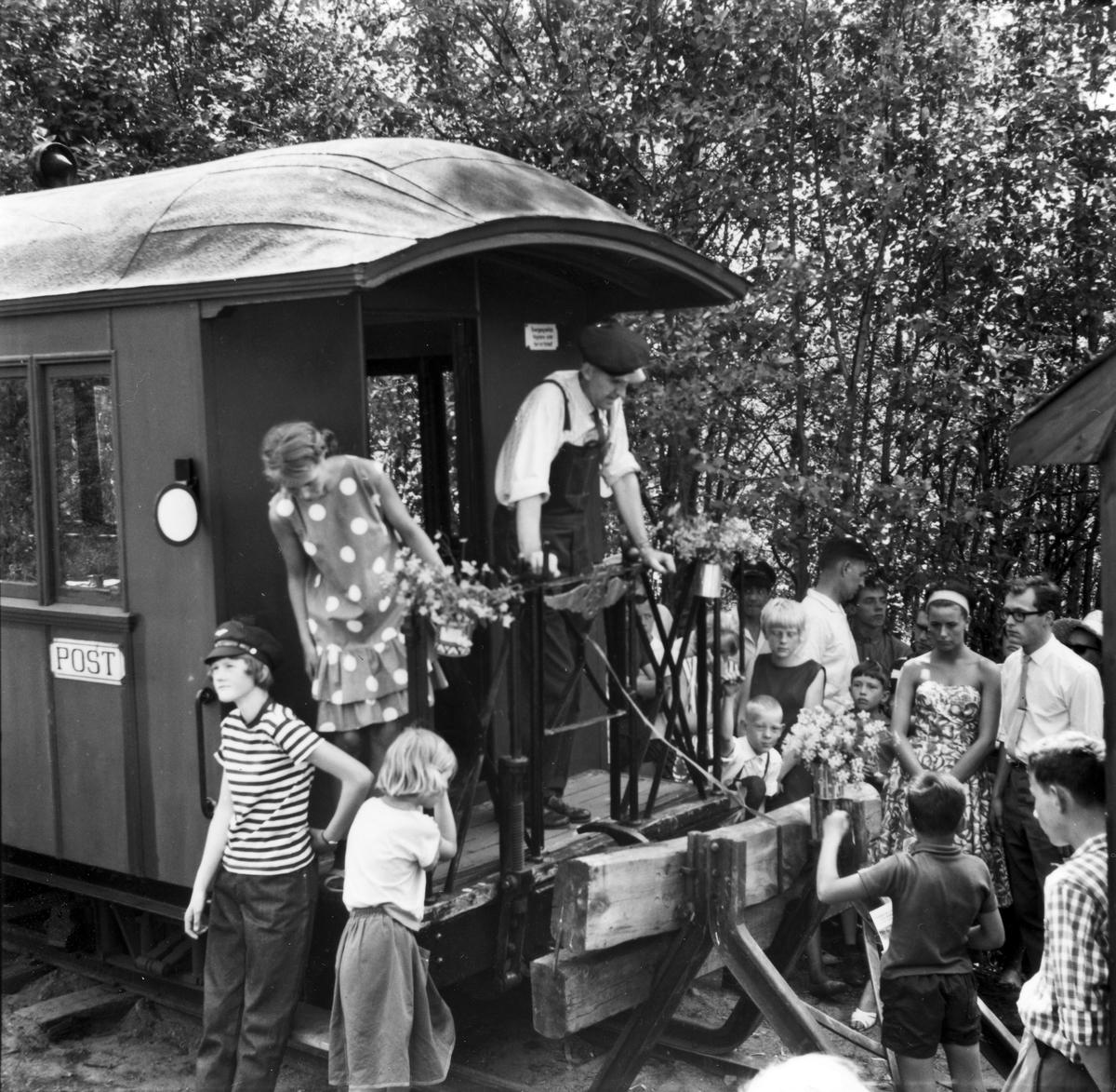 Fra den høytidelige åpningen av museumsbanen 19. juni 1966.
