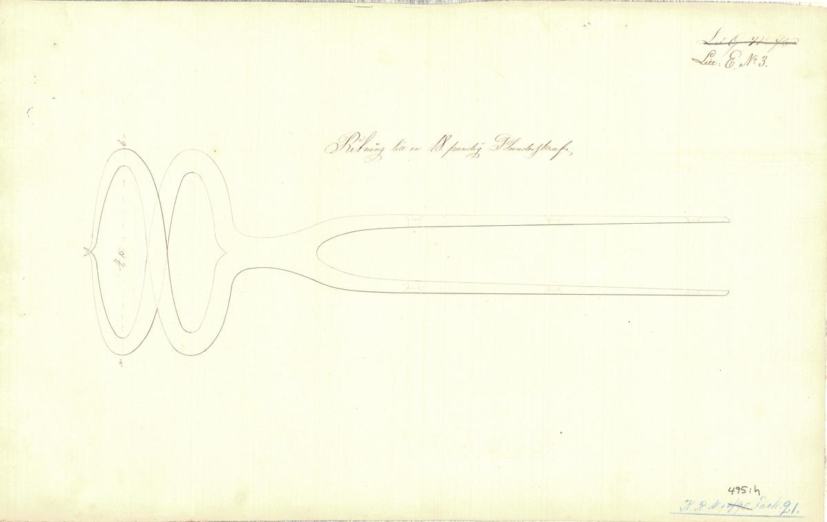 8 st ritningar till en 6 ½ tums plunderskruv till bombkanoner