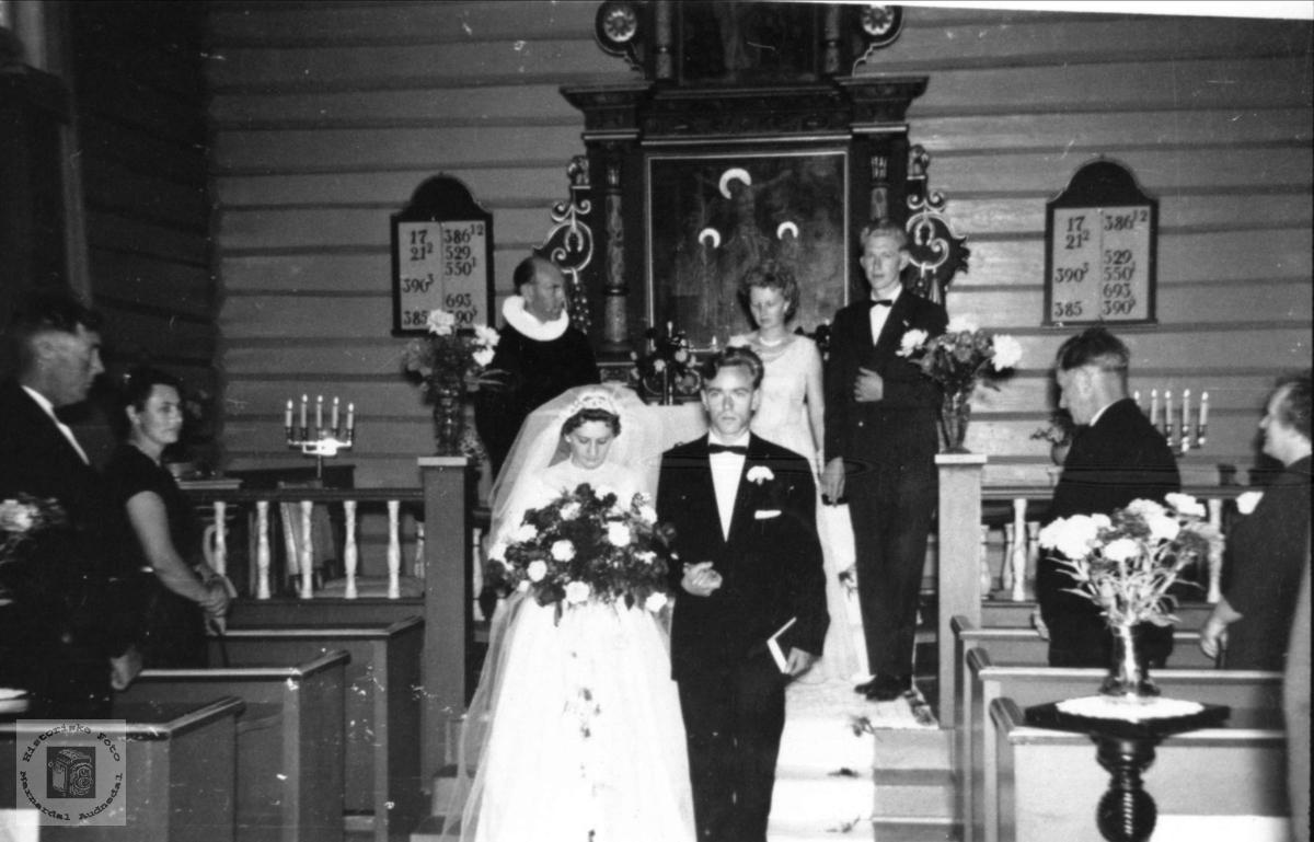 Trygve og Anny Skaar`s bryllup