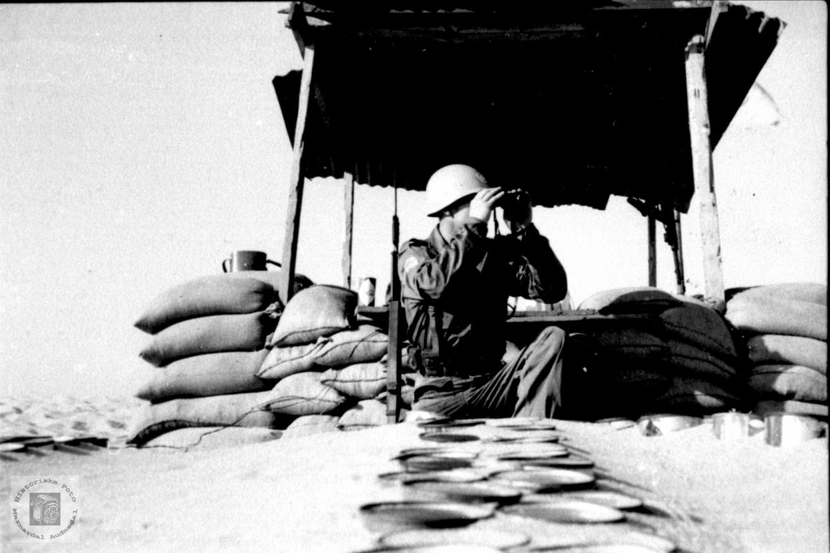 Observeasjonspost på grenssa Egypt/Israel 1959/60.