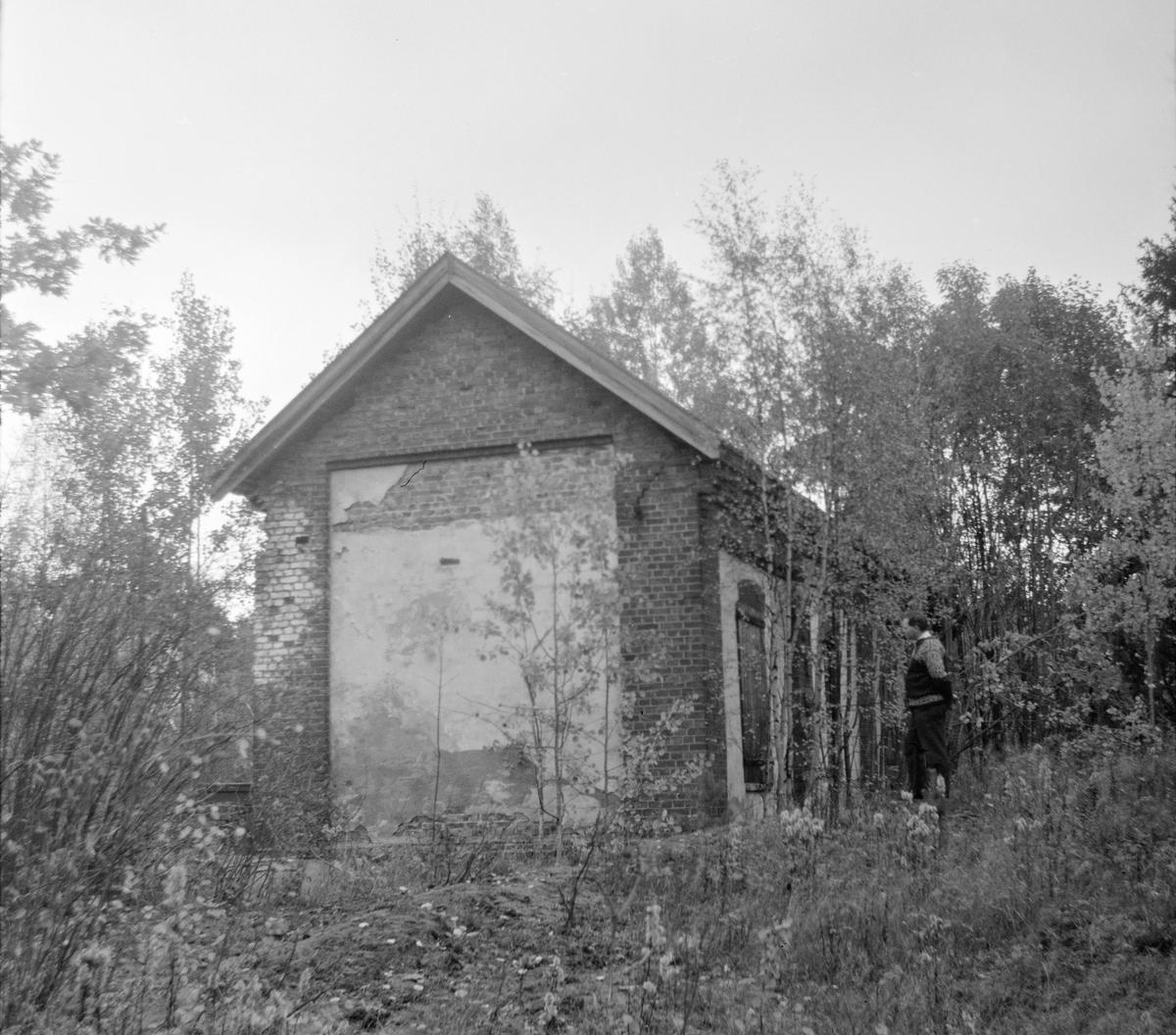 Den gamle lokomotivstallen på Eidsfoss stasjon på nedlagte Tønsberg-Eidsfossbanen.