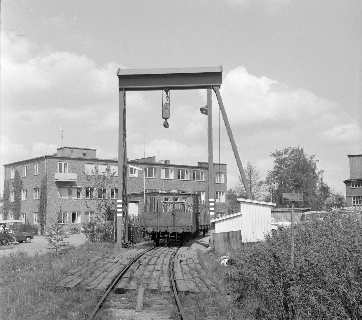 Lastekranen på Askim på den nedlagte Solbergfossbanen