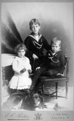 Portrett av tre barn, to gutter og en jente. Dette er mest s