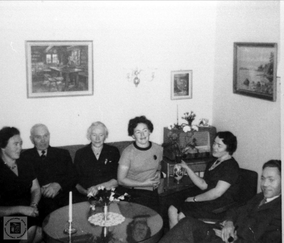Familiegruppe. Lauvdal/Lauvsland/Abelset.