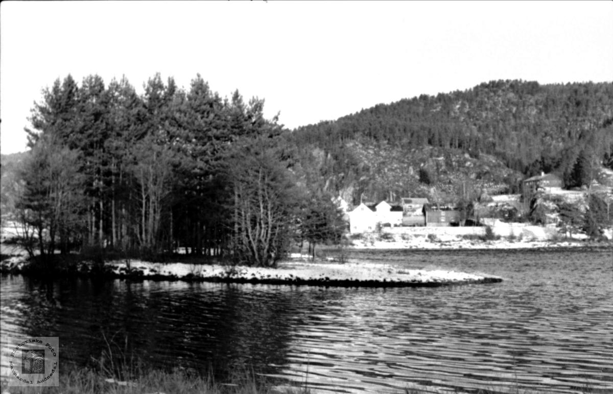 Elva  Logåna i møte med storåna før kraftutbygginga.