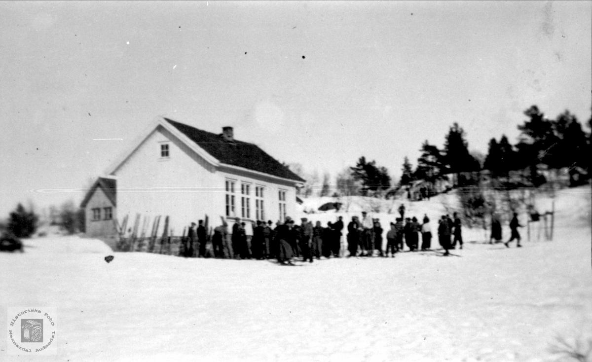 Skidag på Tisland.