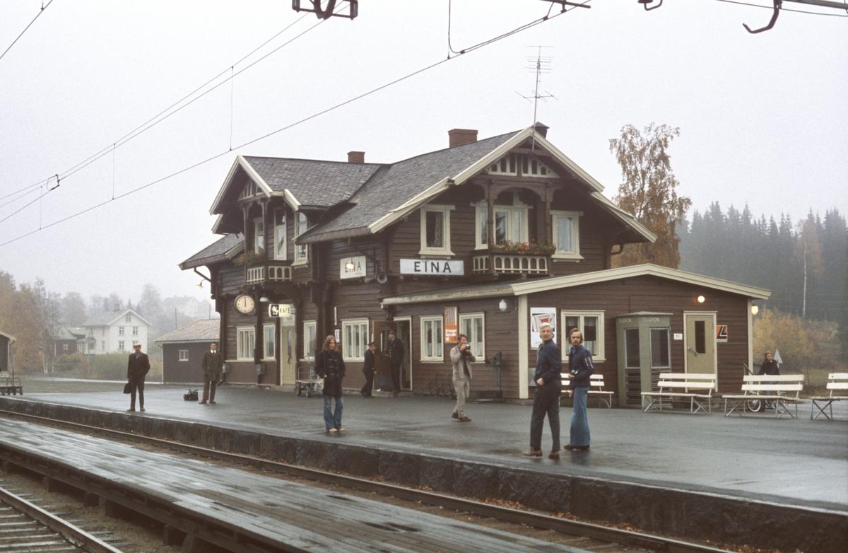 Eina stasjon, stasjonsbygning.