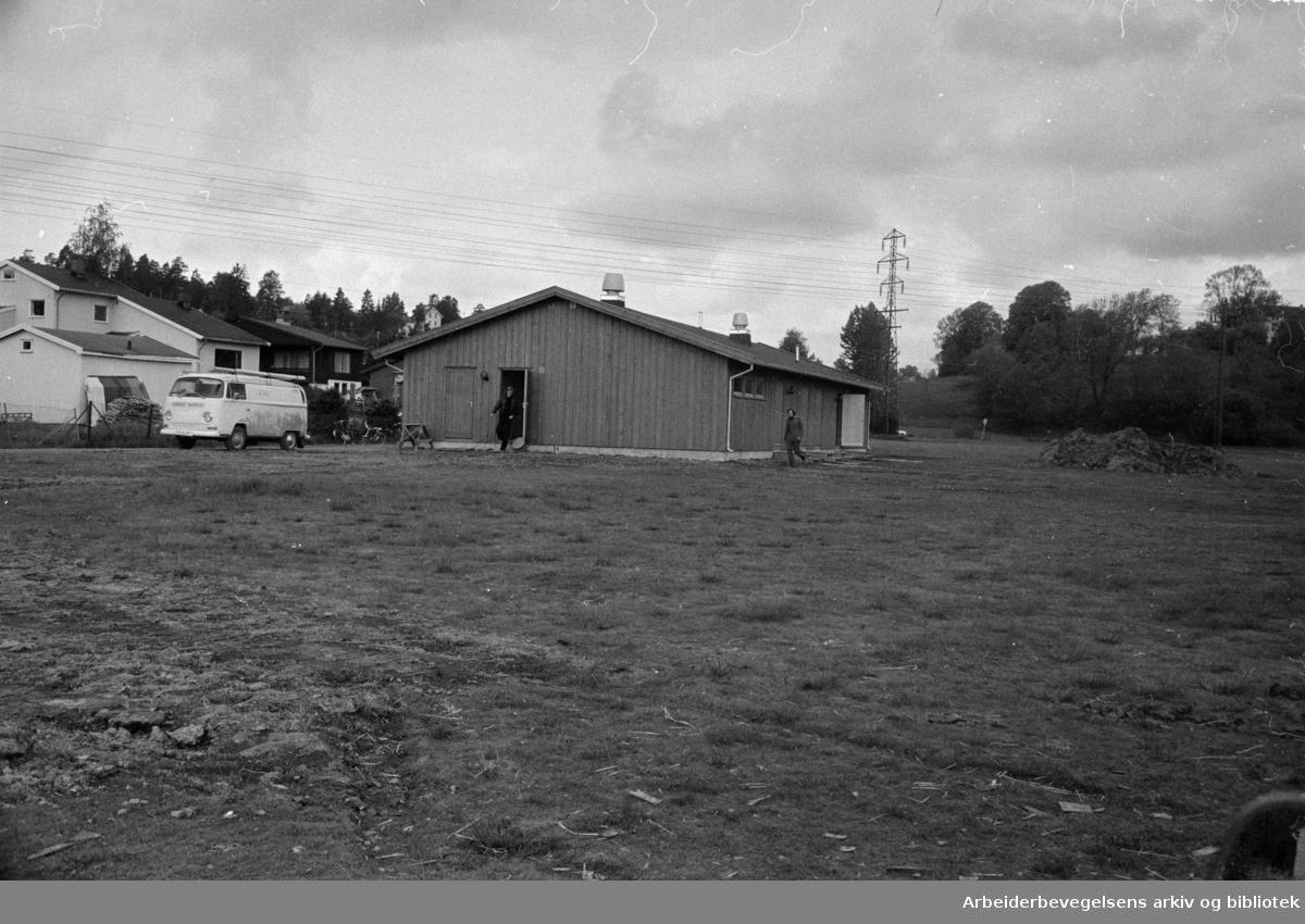 Abildsø Idrettsplass. Innvielse av ny garderobe og klubbhus. Juni 1975.