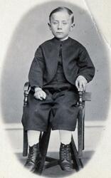 Porträtt av Axel Lorentz (Lars) Lindqvist.