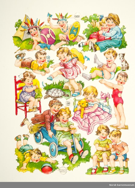 Uklippet platter med barnemotiv