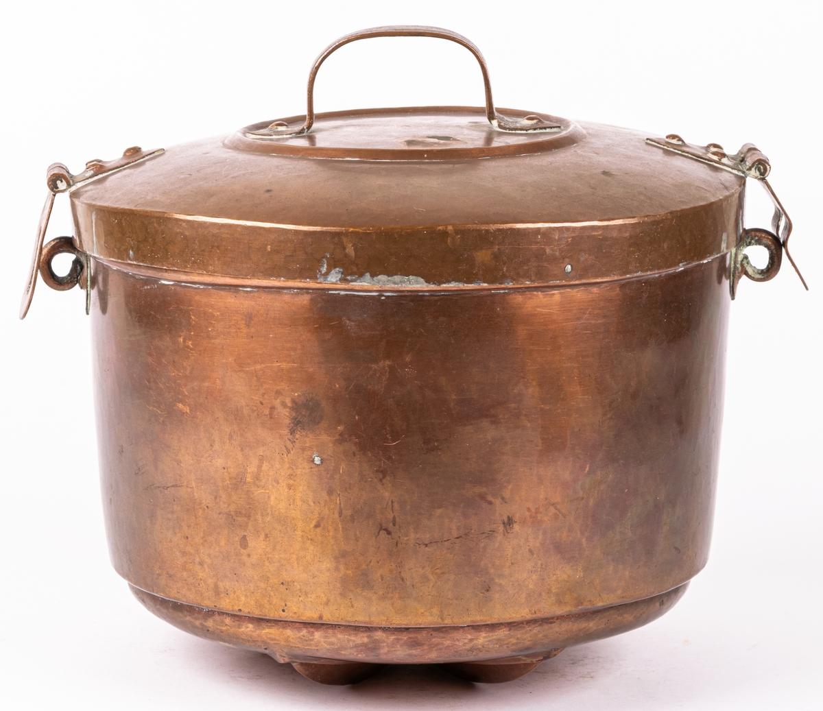 Puddingform av koppar. rund.