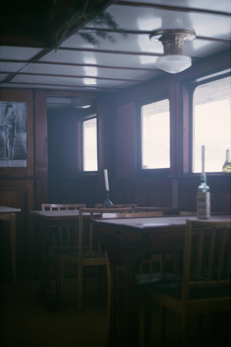 Interiör från matsalen på S/S SAXAREN