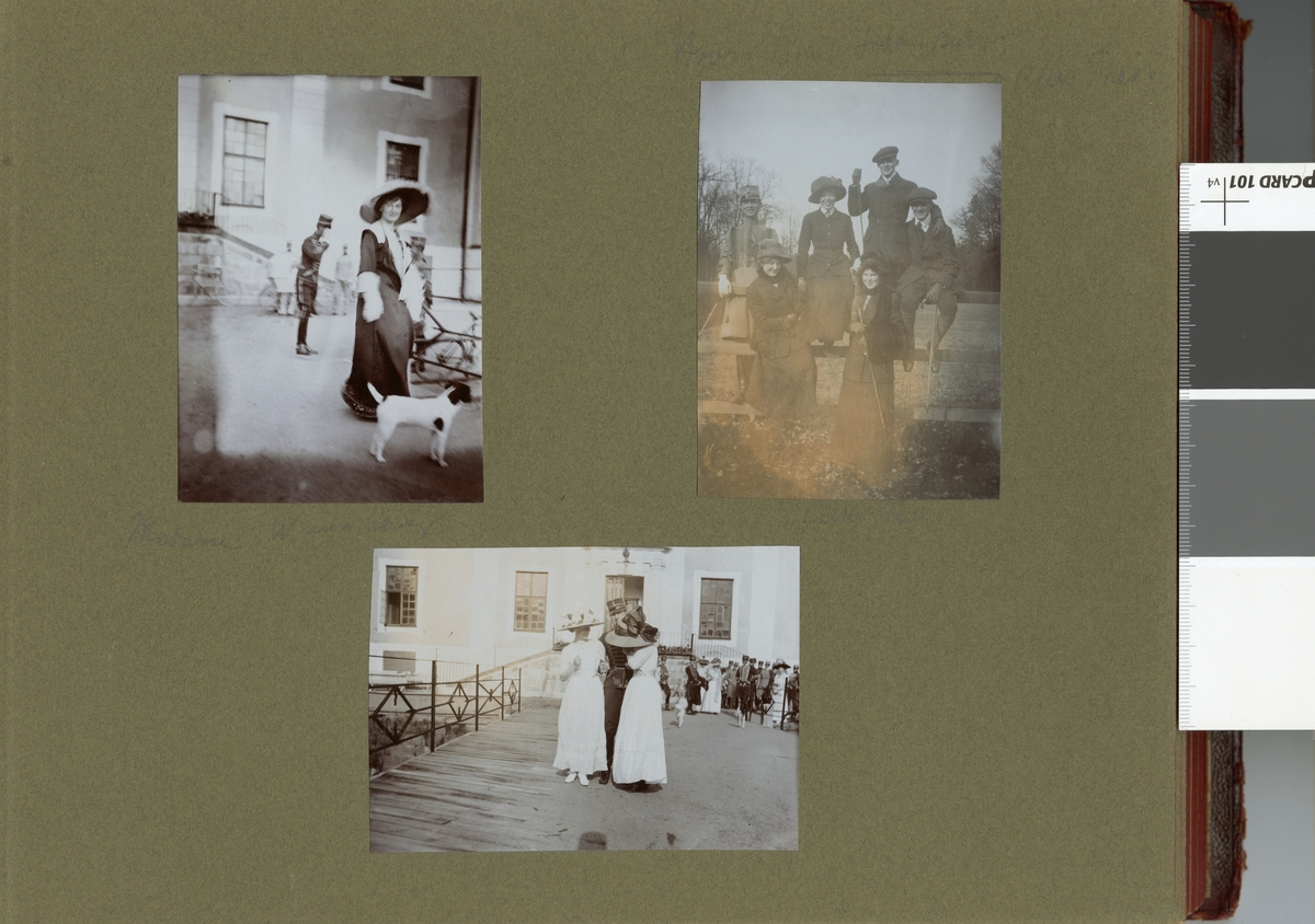 Gruppbild med kvinnor och soldater.