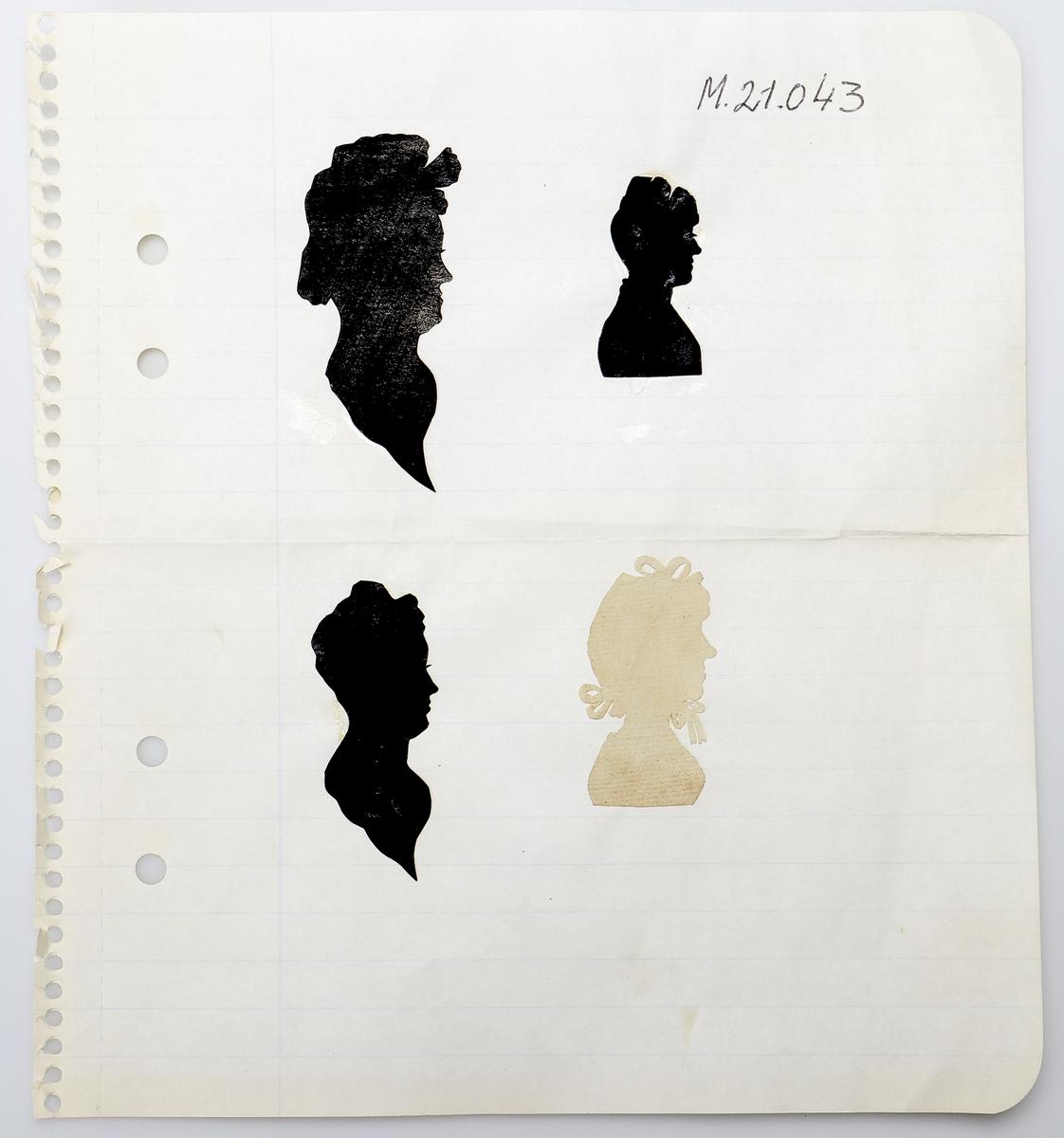 Diverse askar, bokmärken, klippdockor och siluetter m. m.  Inskrivet i huvudkatalog 1968.