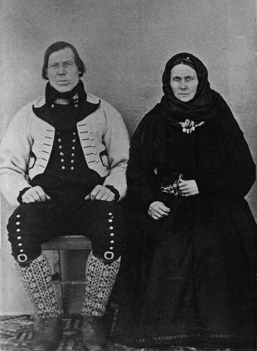 Hellek Valen og kona Mari Johannesdtr.