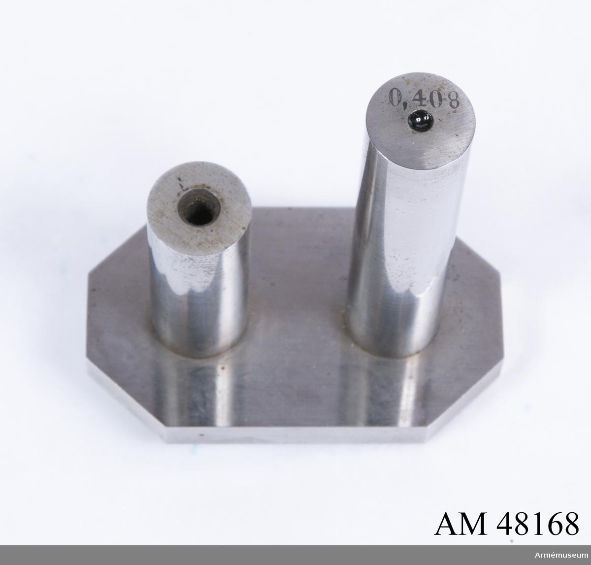 Grupp E VIII. Brilla till min/max-tolkar till 12 mm gevär m/1867.