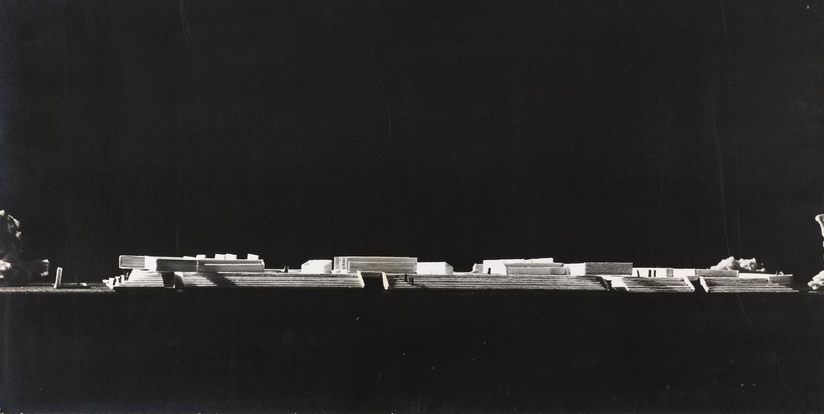 Museumsanlegg i Leopoldville. Eksteriørperspektiv. [Eksteriørperspektiv]