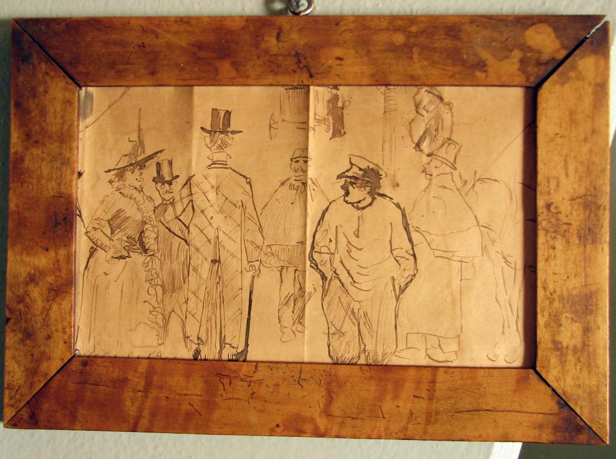 Rektangulær, Figurer, 1 kv., 3 menn m. floss, politimann