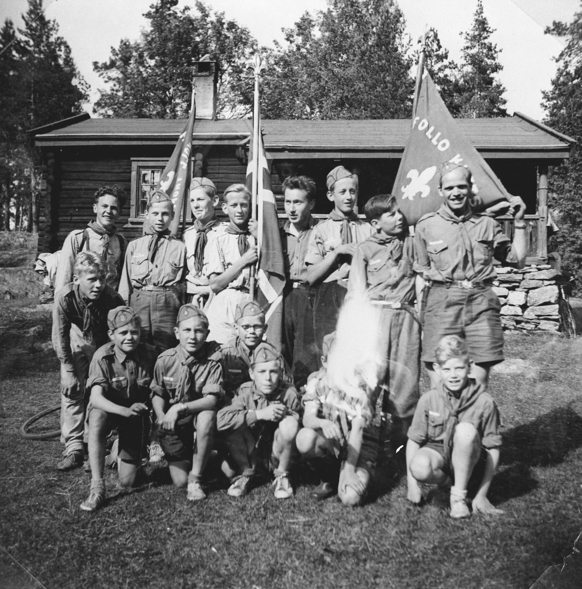 1. Myrvolls seirende tropp i Kretskonkuransen 1952.