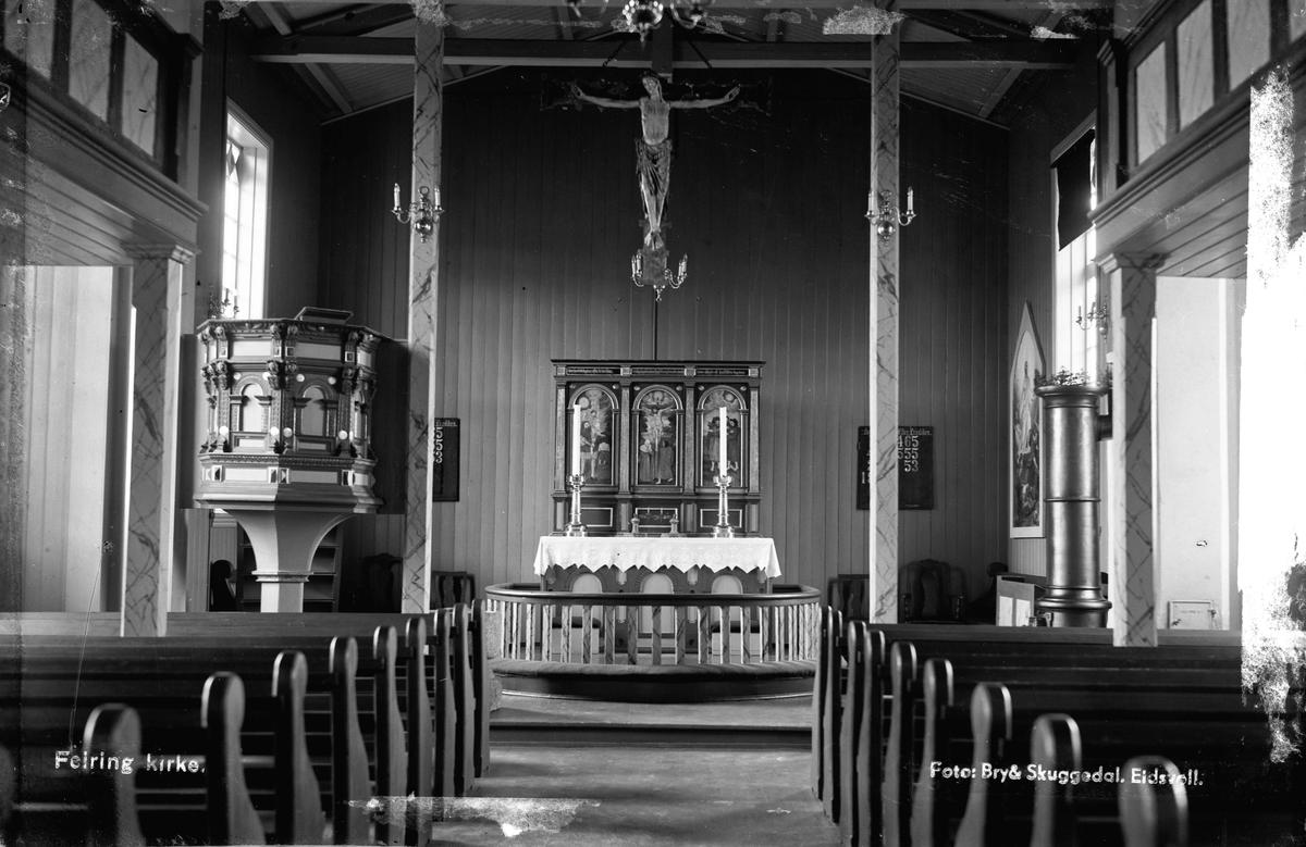 Feiring Kirke. Interiør.