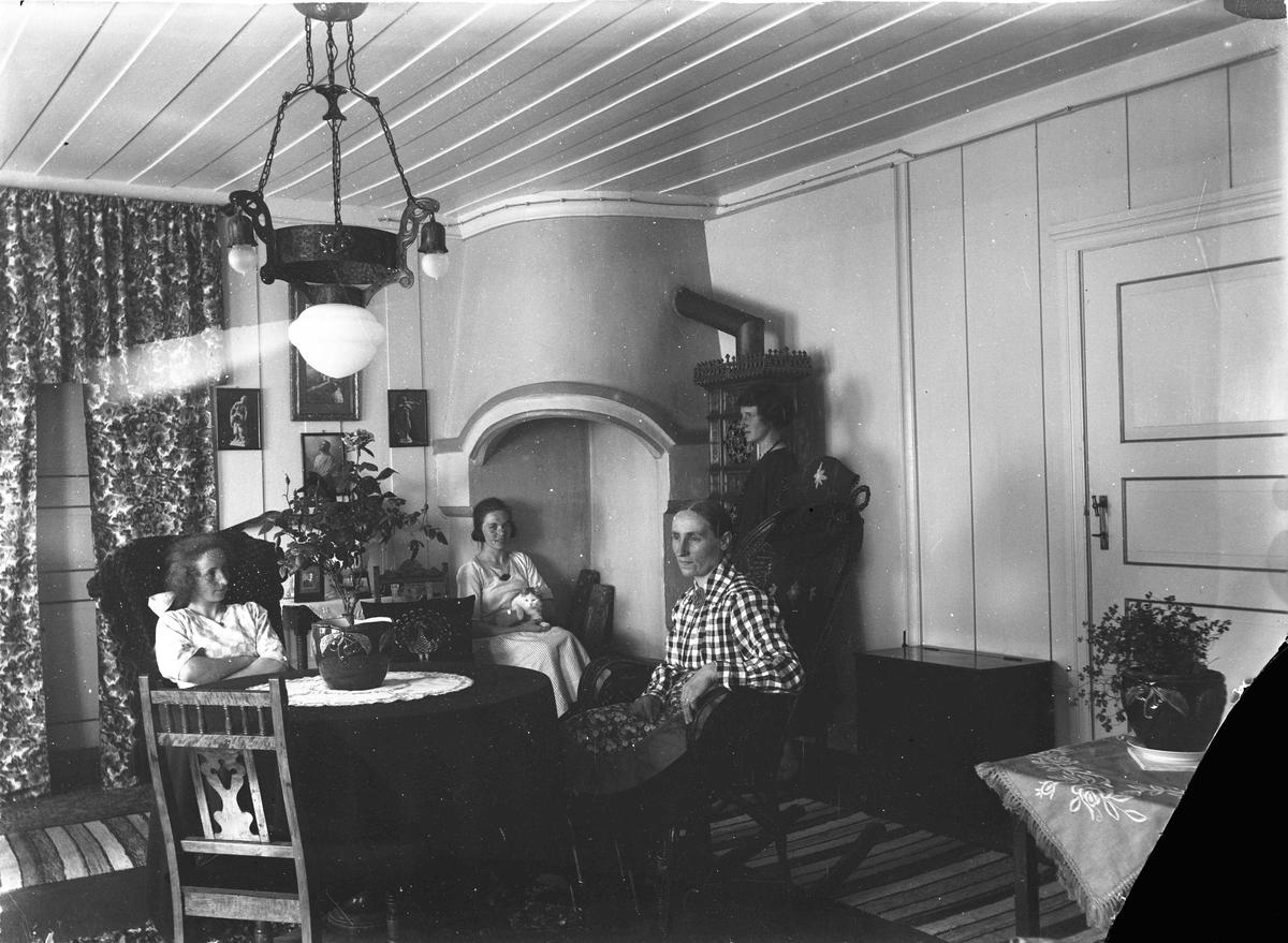 Portrett - 4 kvinner i en stue