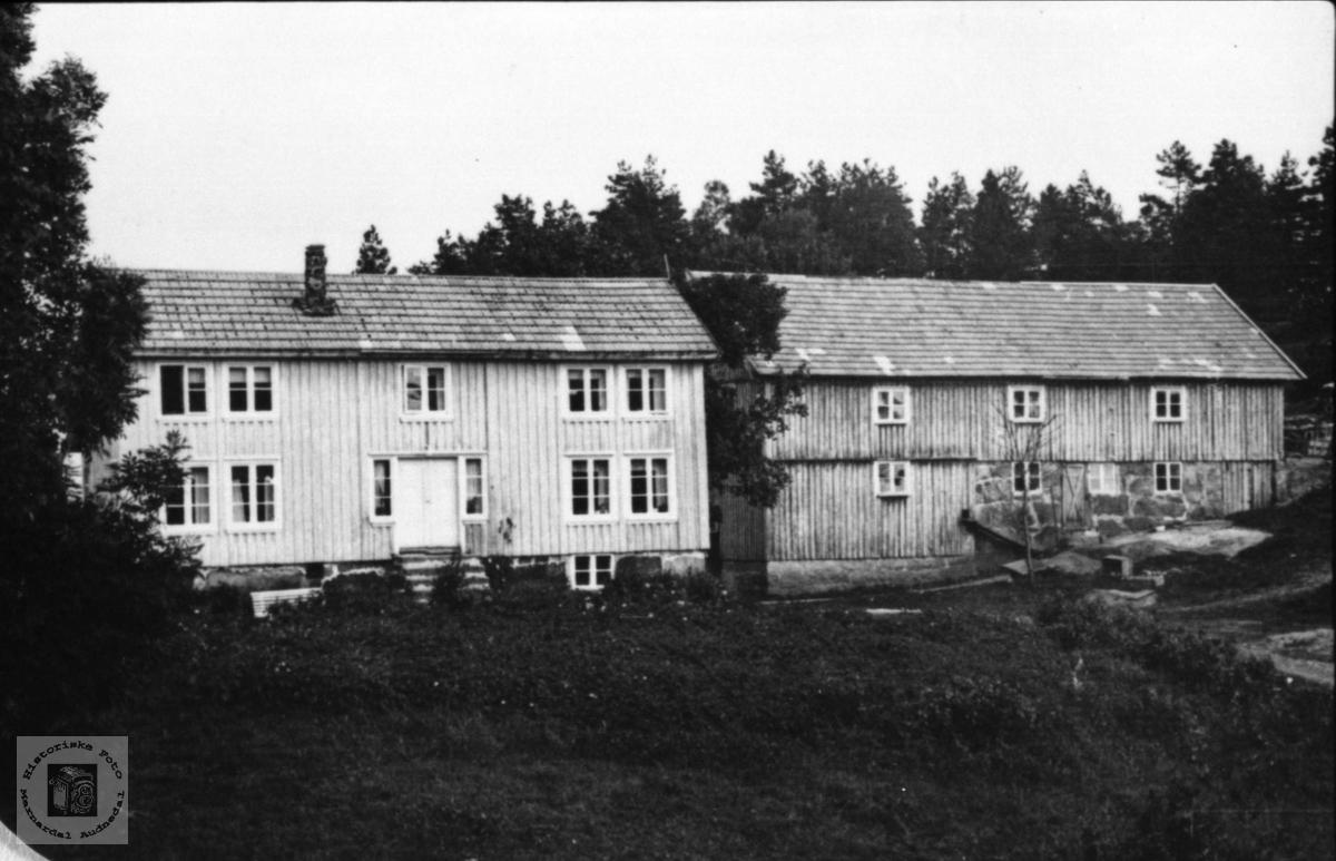 Husa på Haraldstad i Bjelland fram til 1950.