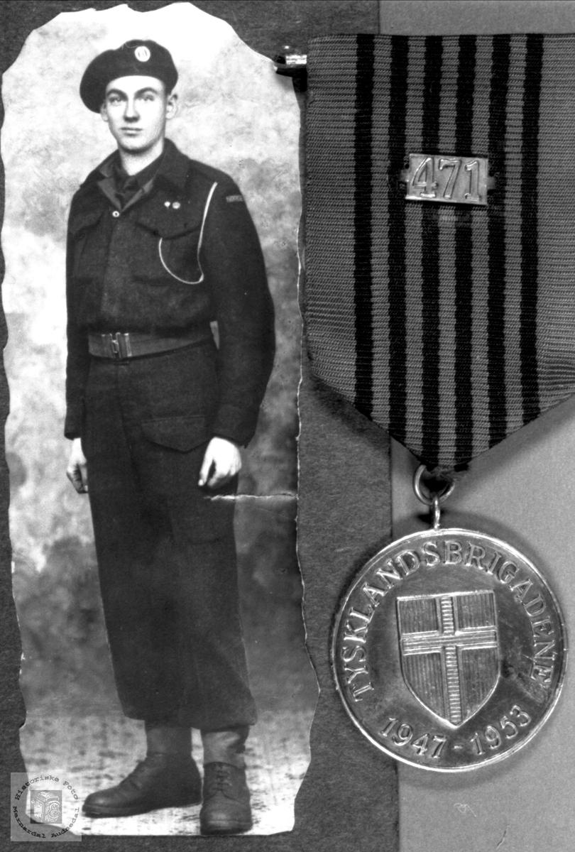 Portrett av Tysklandsbrigadesoldat Sigmund Høye, Øyslebø.
