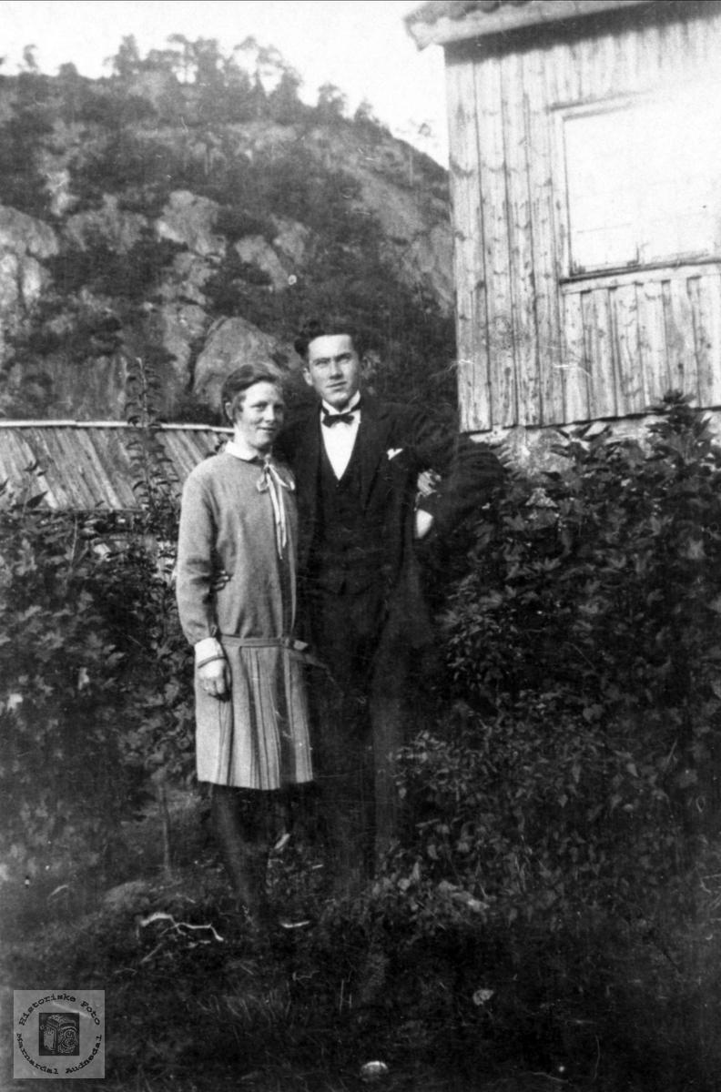 Dobbelportrett av Gudrun Strisland og Knut Rødland