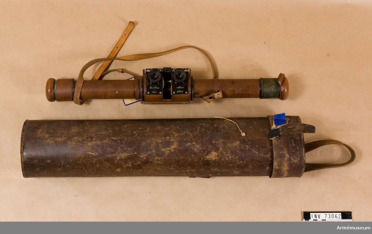 Grupp F III.  Instrument i fodral,samt stativ. 8x förstoring.  50 cm, 8X nr 31