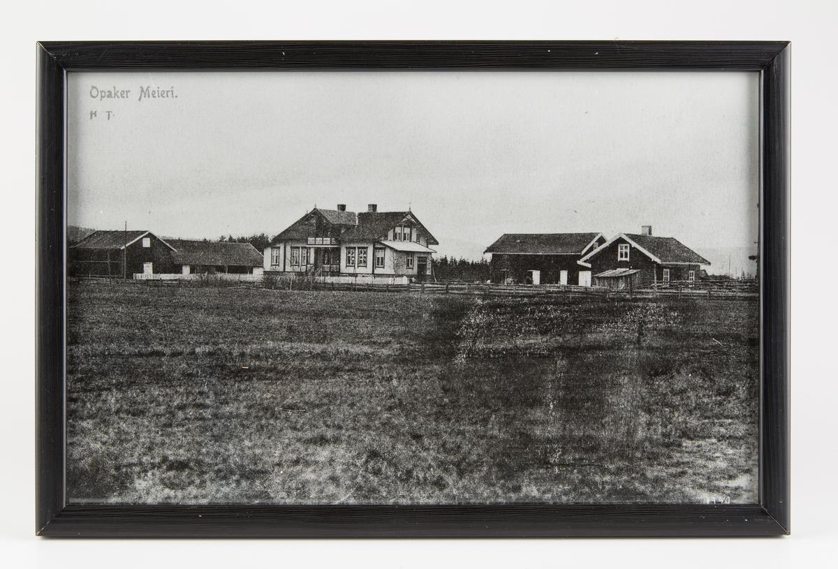 Fotokopi, postkort av Opaker meieri.