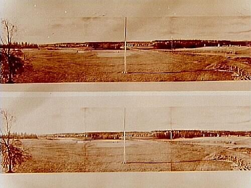 Panoramabilder över golfbanan.Örebro golfklubb.OBS. två bilder på samma glasplåt.