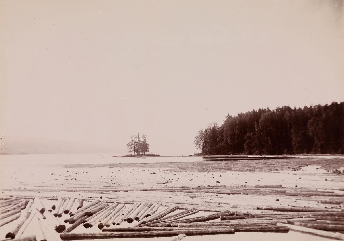 Fløting på Hurdalssjøen.