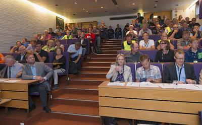 Fra seminaret Gull og grønne skoger i auditoriet under Jakt- og Fiskedagene 2014. Foto/Photo