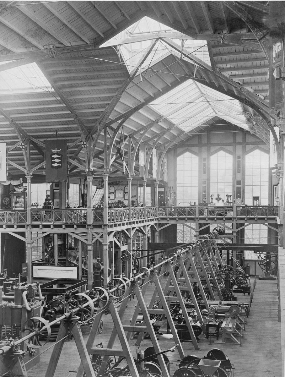 Industripalatset vid Industriutställningen i Kungsträdgården, Stockholm 1866.