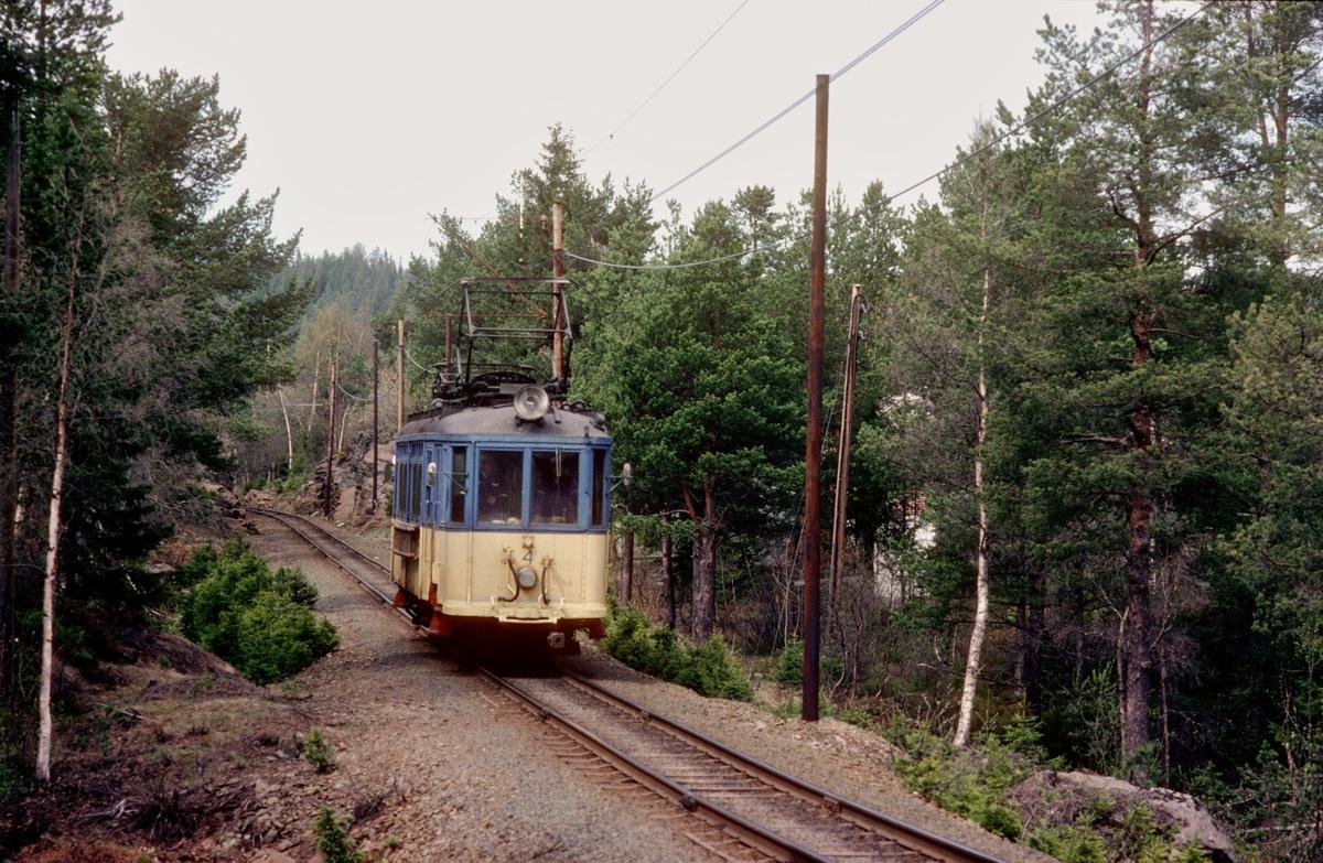 Vogn 4 ved Kyvatnet på Gråkallbanen.