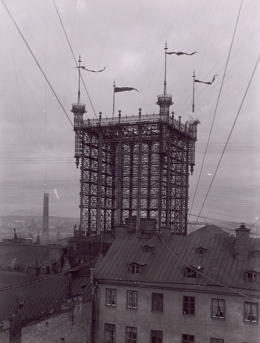 Telefontornet, i början av 1890-talet. Uppfört 1886 och rivet 1952.