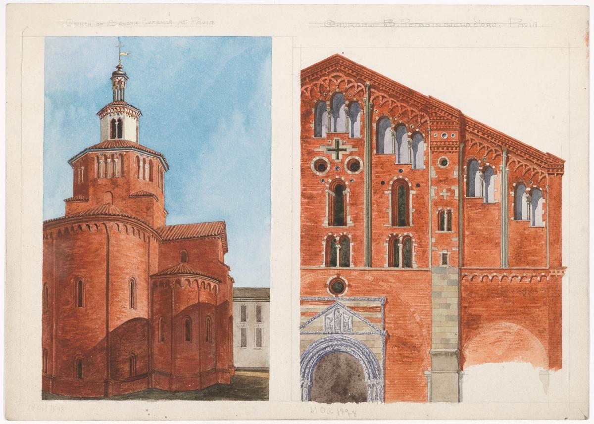 To kirker i Padova [Tegning]