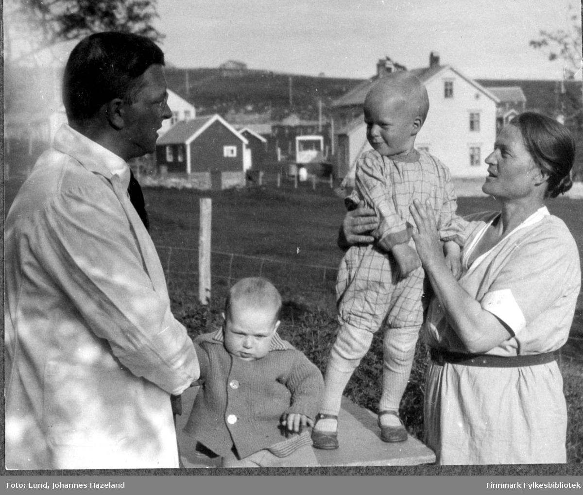 Dommerfullmektig Cato Jenssen med familie
