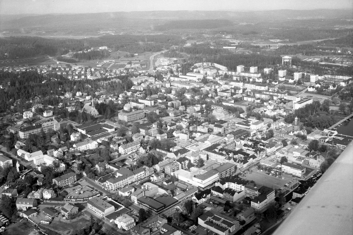 Arvika från luften den 30 maj 1972.
