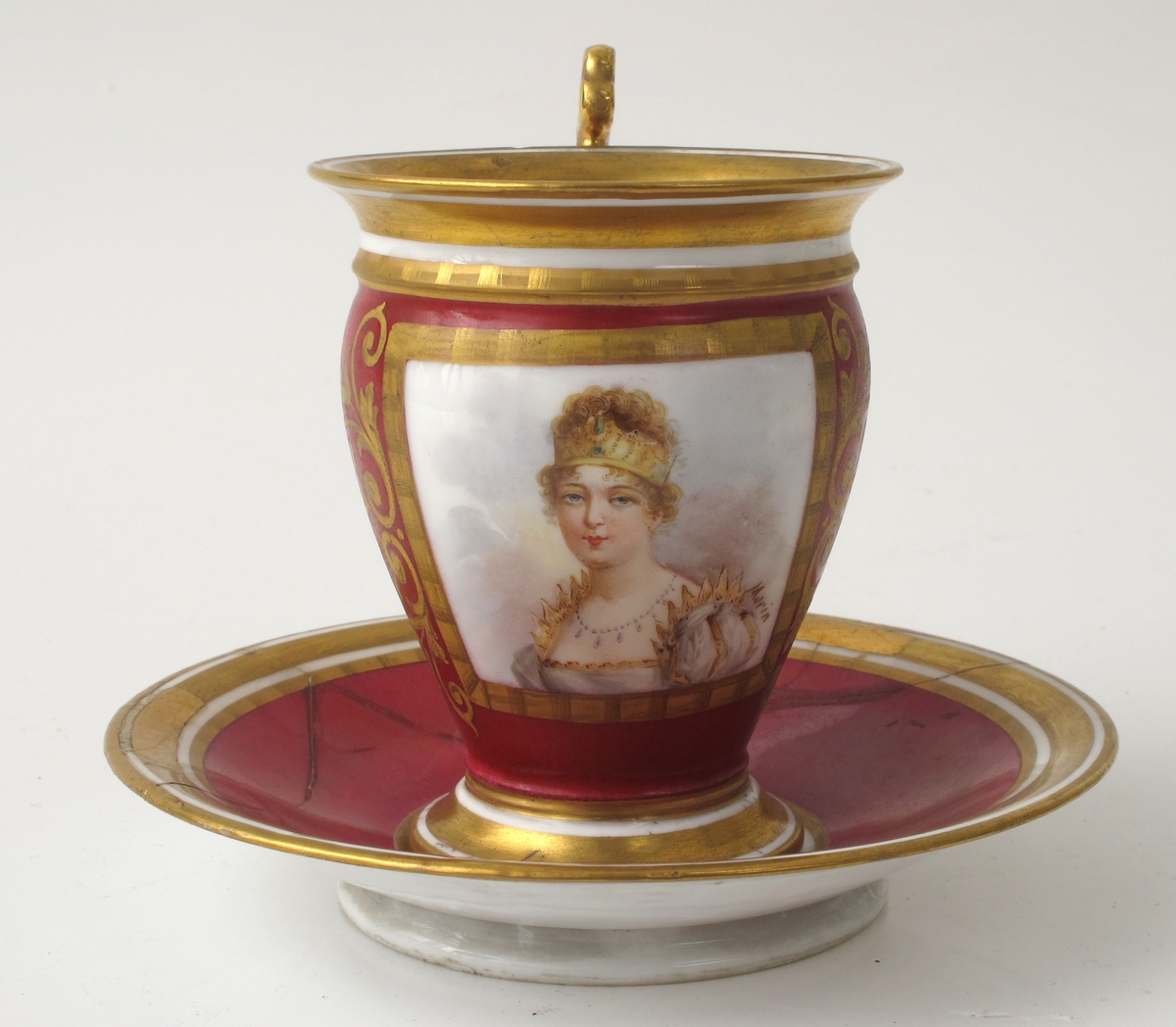Portrett av Marie Louise gift 1/4 1810  m. Napoleon.