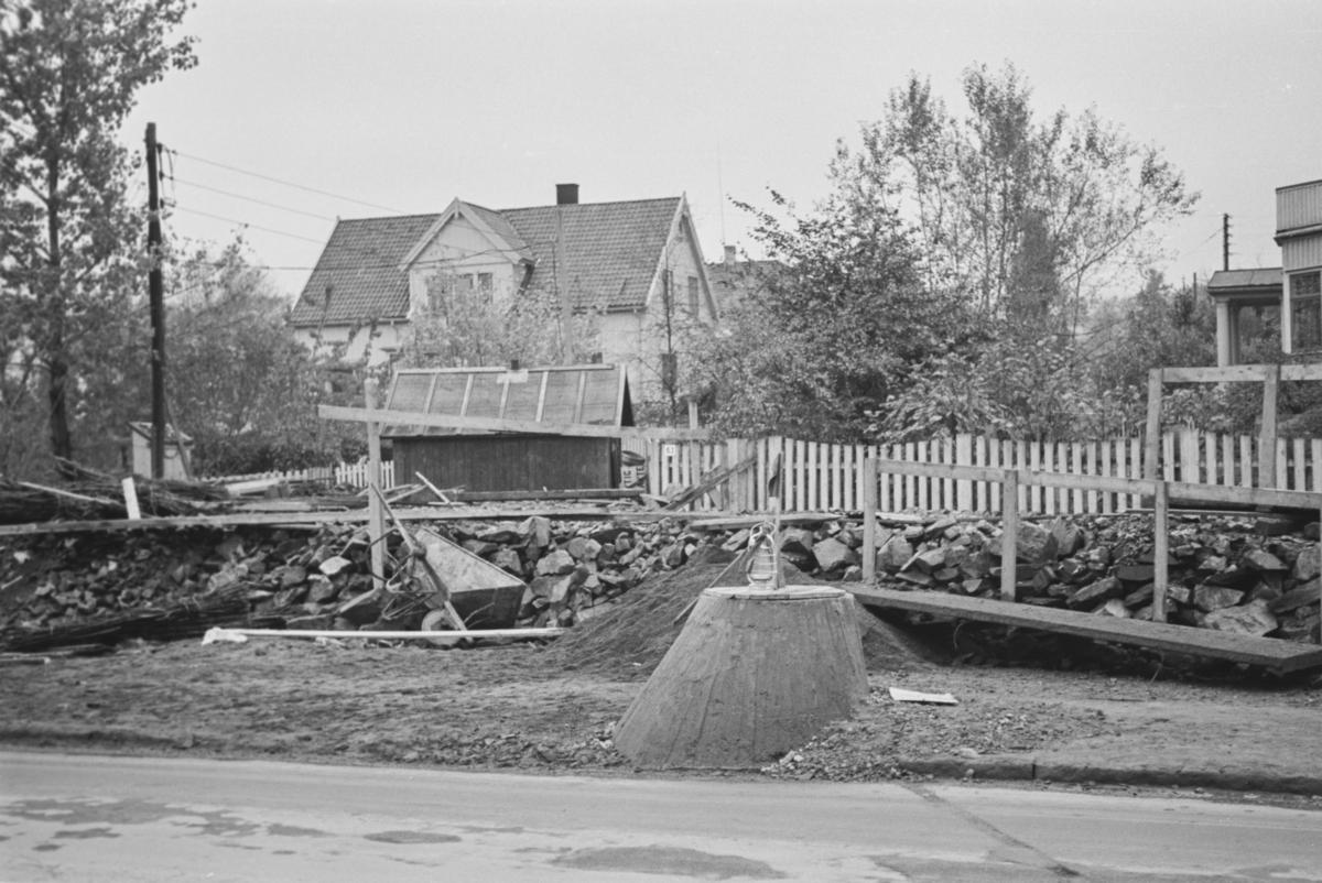 Fra omleggingen av Røabanen mellom Majorstuen og Smestad.